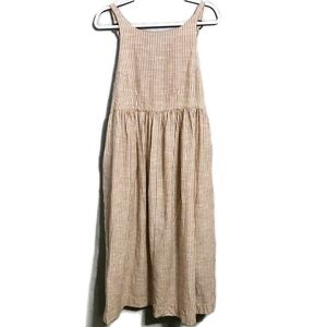 Free People Striped Babydoll Maxi Dress XS